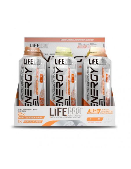LIFE PRO ENDURANCE CAFFEINE ENERGY GEL 18X60ML