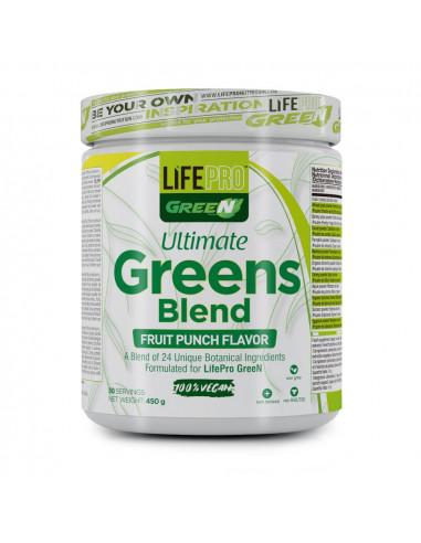 LIFE PRO ULTIMATE GREENS BLEND 450G