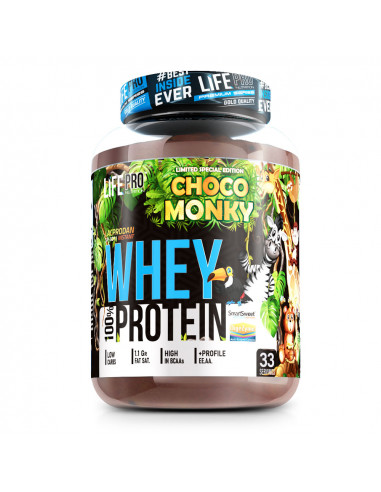 LIFE PRO WHEY CHOCO MONKY 1KG LIMITED...