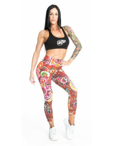 LIFE PRO SPORTS TIGHTS FLOWERS