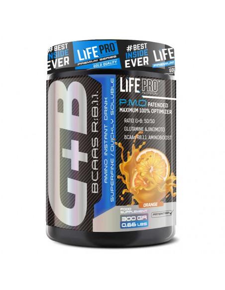 LIFE PRO BCAA + GLUTAMINE AJINOMOTO 300 G.