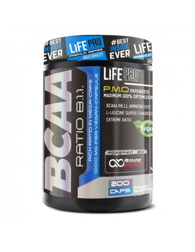 LIFE PRO BCAA PRO 8:1:1 1000MG 200 CAPS