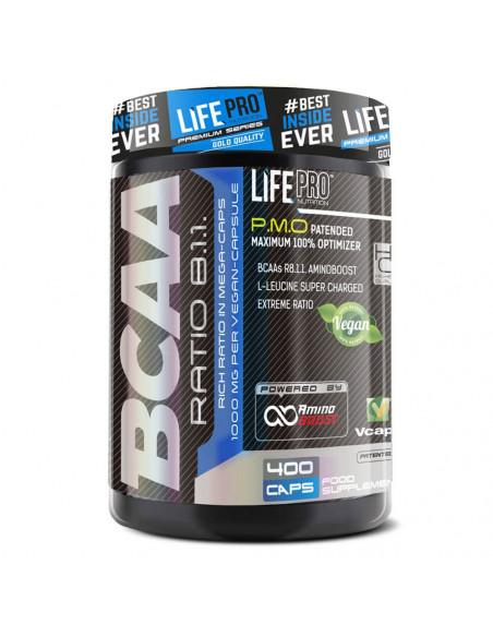 LIFE PRO BCAA PRO 8:1:1 1000MG 400 CAPS