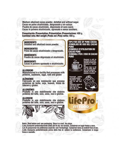 LIFE PRO FIT FOOD PURE COCOA 400G